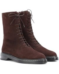 The Row - Fara Suede Ankle Boots - Lyst