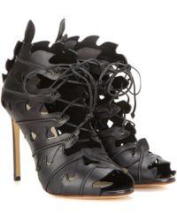 Francesco Russo - Cut-out Leather Sandals - Lyst