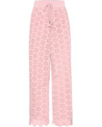 PUMA - Embroidered Jersey Trousers - Lyst
