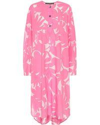 Marni - Printed Cotton Midi Dress - Lyst