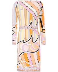 Emilio Pucci - Printed Silk-blend Dress - Lyst