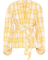 Rosie Assoulin - The Ties That Bind Us Plaid Top - Lyst