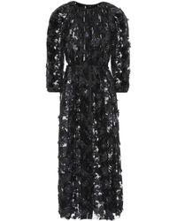 Huishan Zhang - Sequinned Fil Coupé Dress - Lyst