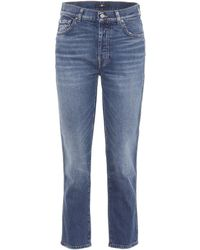 7 For All Mankind - Edie High-waisted Straight-leg Jeans - Lyst