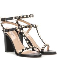 Valentino - Rockstud Leather Sandals - Lyst