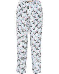 Marni - Pantalones rectos de crepé - Lyst