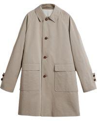 Burberry - Waxed Cotton Gabardine Car Coat - Lyst