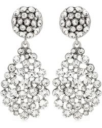 Oscar de la Renta - Crystal-embellished Clip-on Earrings - Lyst