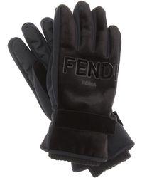Fendi - Velvet Gloves - Lyst