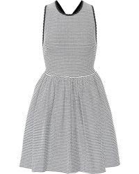 Miu Miu - Striped Knit Minidress - Lyst