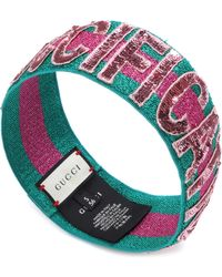 Gucci - Sequinned Headband - Lyst