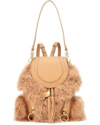 See By Chloé - Shearling Backpack - Lyst