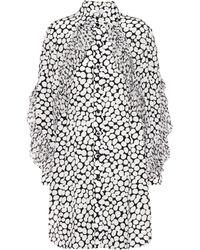 Givenchy - Kleid aus Seide mit Volants - Lyst
