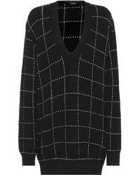 Balmain - Checked Oversized Sweater - Lyst