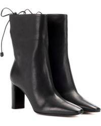 The Row - Emil Leather Ankle Boots - Lyst