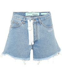 Off-White c/o Virgil Abloh - Zip Denim Cut-off Shorts - Lyst