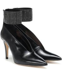 Christopher Kane - Crystal-embellished Glossed-leather Court Shoes - Lyst