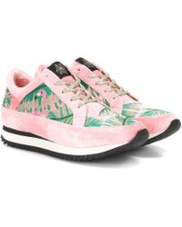 Charlotte Olympia - Work It Velvet Platform Sneakers - Lyst