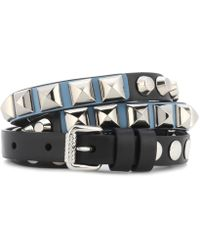 Prada - All Designer Products - Studded Leather Belt - Lyst