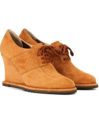 Bottega Veneta - Suede Derby Shoes - Lyst