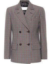 Maison Margiela - Wool And Mohair Checked Jacket - Lyst