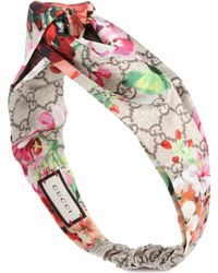 Gucci Printed Silk-satin Headband - Multicolor