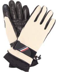Moncler Grenoble - Leather-trimmed Gloves - Lyst