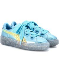 PUMA - Metallic Leather Glitter Sneakers - Lyst