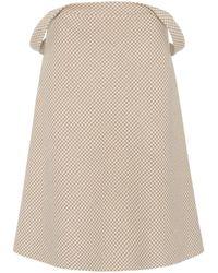 Balenciaga - Wool-blend Houndstooth Skirt - Lyst