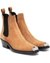 CALVIN KLEIN 205W39NYC - Exclusive To Mytheresa – Western Claire Suede Ankle Boots - Lyst