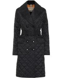 Burberry - Quilted Trench Coat - Lyst