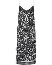 Ganni - Colby Sequinned-tulle Slip Dress - Lyst
