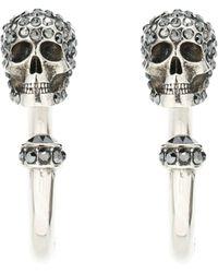 Alexander McQueen - Skull Hoop Earrings - Lyst