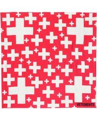 Vetements - Foulard en soie imprimée - Lyst
