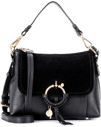 See By Chloé Joan Small Leather And Suede Crossbody Bag - Black
