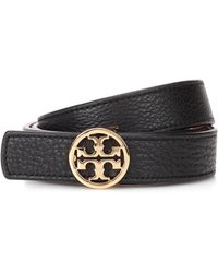 Tory Burch - Reversible Leather Logo Belt - Lyst