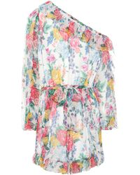 Zimmermann - Exclusive To Mytheresa. Com – One-shoulder Silk Playsuit - Lyst