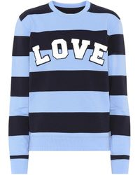Tory Sport - Striped Cotton Sweatshirt - Lyst