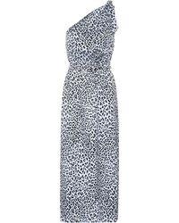 Alessandra Rich - Printed Silk Jacquard Dress - Lyst