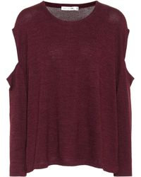 Rag & Bone - Jersey Top With Cut-out Sleeves - Lyst