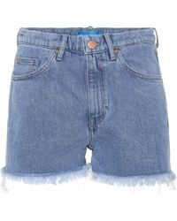 M.i.h Jeans - Halsy Cut Off Denim Shorts - Lyst