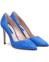 Stuart Weitzman - Anny Suede Court Shoes - Lyst