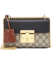 30dc1a0ffa9 Gucci Padlock Signature Top Handle Leather Bag in Pink - Lyst