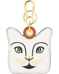 Loewe - Cat Leather Bag Charm - Lyst