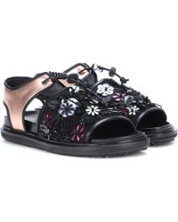 Marni - Exclusive To Mytheresa. Com – Embellished Leather Sandals - Lyst