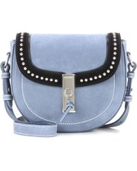 Altuzarra - Ghianda Saddle Mini Suede Shoulder Bag - Lyst