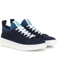 KENZO - Sneakers K-City aus Veloursleder - Lyst