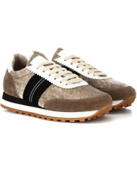 Brunello Cucinelli - Velvet And Suede Trainers - Lyst