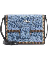 Etro - Printed Leather Shoulder Bag - Lyst