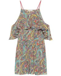 Etro Jumpsuit corta a stampa in seta - Multicolore